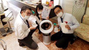 新型コロナウイルス感染拡大の為の店舗対応写真